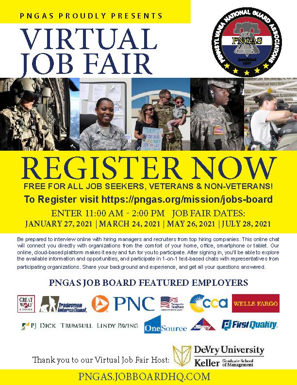 PNGAS Virtual Career Fair Flyer image
